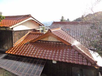 長門市 屋根瓦の葺き替え(野地板貼り替え)